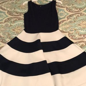 Cute blue and white flare dress